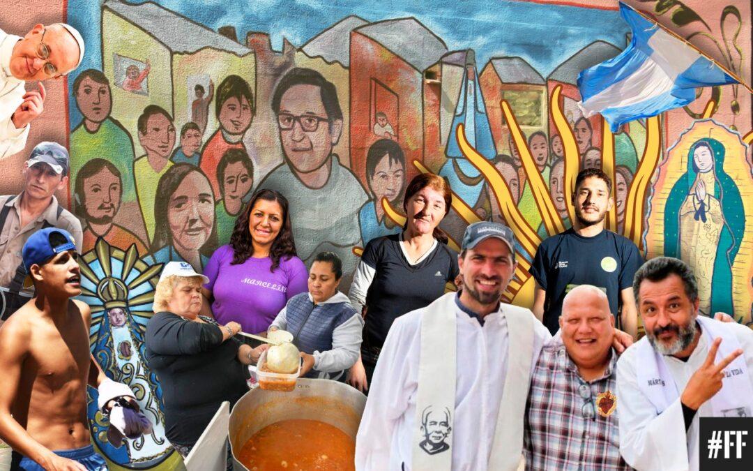 """Nicolas """"Padre Tano"""" Angelotti y P. Daniel """"El Negro"""" Echeverría, curas en La Matanza: """"Bachi nos dejó equipados, tenemos con qué seguir andando: hay comunidad, hay familia, hay pueblo"""""""